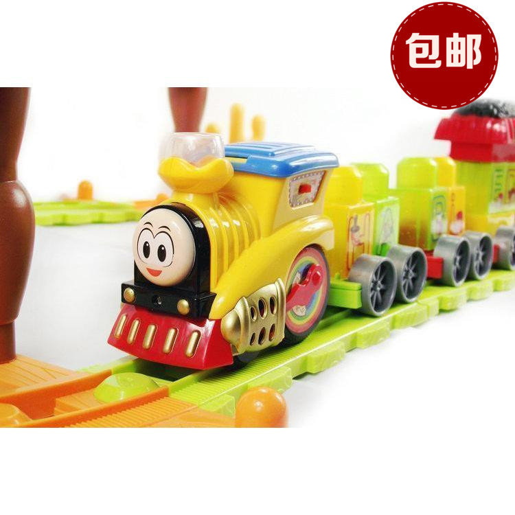 Free Shipping Electrical Set Thomas Train DIY Railway Track Classic Scale Sound&Light Fun Family Game Kid Interest(China (Mainland))