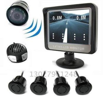 Guaranteed 100% New 3.5 inch Wireless Video Parking Sensor With 4 Sensors + 2012 Best Selling