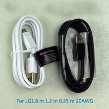 For LG data cable micro USB charging 0.35 m 1.2 m to 1.8 m line 20AWG shielding Android the new bump(China (Mainland))