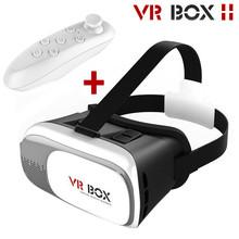 2016 Hot ! Google Cardboard 3D Movie Glasses VR BOX II 2.0 Version Virtual Reality 3D Galasses + Bluetooth Remote Controller(China (Mainland))
