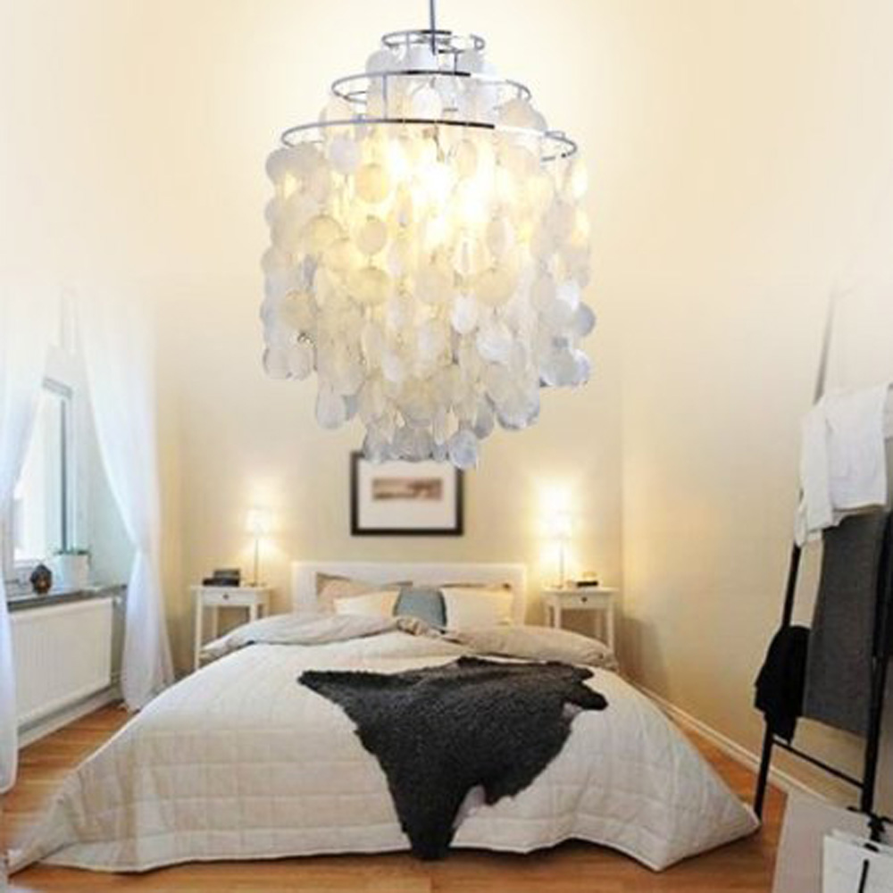 blanc shell pendant chandelier finition chrom e china mainland. Black Bedroom Furniture Sets. Home Design Ideas