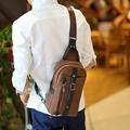 Fashion Business Men Chest Bag Pack Fashion Men Messenger Bags Brand PU Leather One Shoulder Crossbody