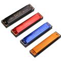 Hot metal 16 hole polyphony C c 4 color high quality harmonica instrument gaita mouth organ