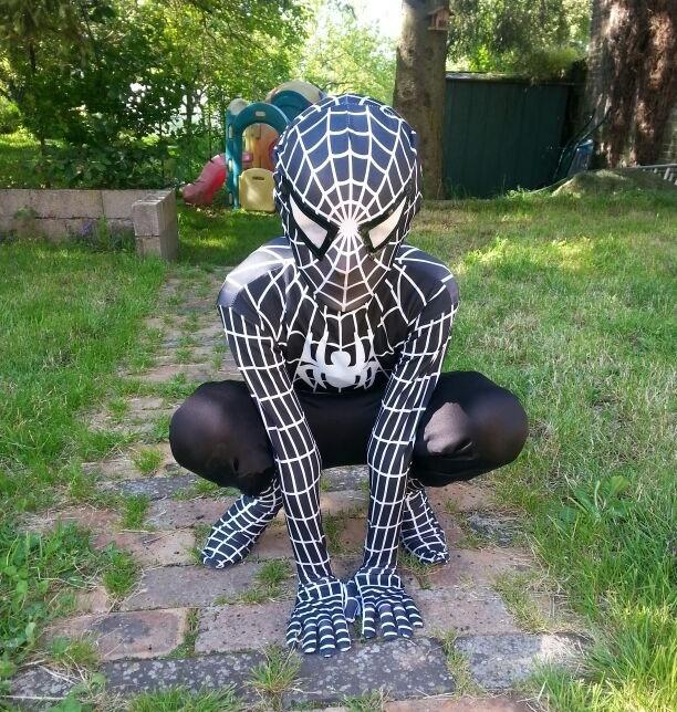 Hot Sale 2017 Black spider man costume spiderman suit spider-man costume child spider man cosplay(China (Mainland))