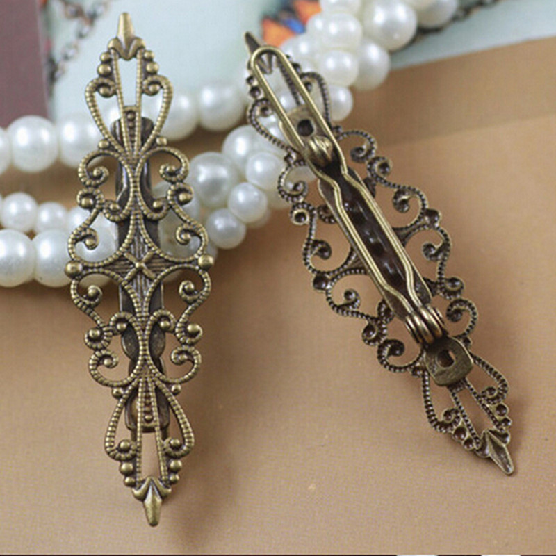Bronze Hair clips for women lady girls flower hair accessories retro vintage Butterfly hair clips hairpins headwear