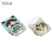 Lovely cat & Husky Dog Metal Ring Universal Mobile Cell Phone Stand Holder for iphone Smartphone Adjustable Support Phone Holder