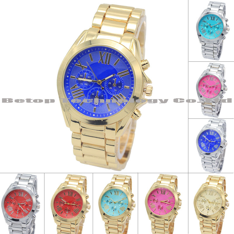 Famous 9 Color Brand Luxury Fashion M logo Watches Ladies Women Wristwatches silver Quartz Female Clock Montre Femme Reloj Mujer - BETOP STORE store