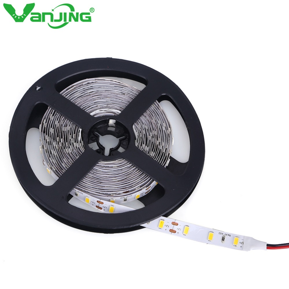 Nonwaterproof 5630 LED Strip Light 5M 300LEDs SMD LED Tape Warm White/Cool White LED Ribbon Brighter than 5050(China (Mainland))