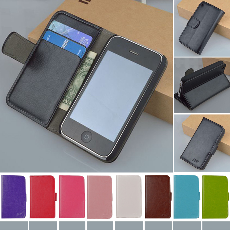 Original J&R Brand PU Leather Case Flip Cover Mobile Phone Case Bag For Apple iPhone 3 3G 3GS Case Classic Design Free Shipping(China (Mainland))