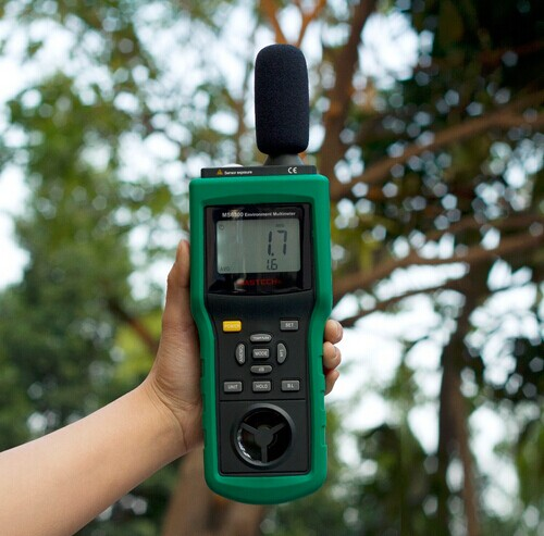 Mastech MS6300 Digital Multifunction Environment Meter Temperature Humidity Sound Air Flow Tester luminometer Anemometer(China (Mainland))