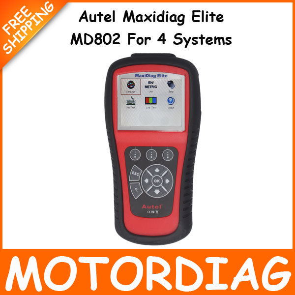 AUTEL MaxiDiag Elite MD802 For 4 System 4 in 1 Auto Code Scanner Automotivo Diagnostic Codes Reader Scan Tool(China (Mainland))