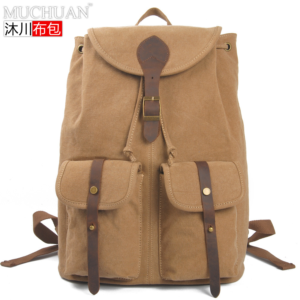 2016 Free Shipping Men 39 S Casual Fashion Backpack Travel Bags Canvas Knapsacks Preppy Style