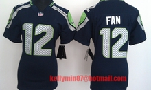 100% Stitiched,Seattle Seahawks,Marshawn Lynch,Richard Sherman,Kam Chancellor,Russell Wilsons,Jimmy Graham,Earl Thomas for women()