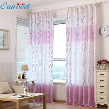 Buy New Fasion Hot Sales! Fresh Purple Print Sheer Window Curtains Living Room Bedroom 100CM*200CM cortina, rideau 37 for $7.25 in AliExpress store