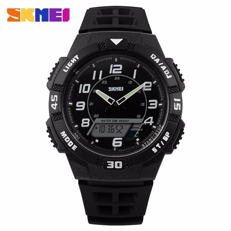 2016 SKMEI Luxury Brand Sports Quartz-Watch Dive 50m Digital LED Military Watches Men Fashion Casual Electronics Wristwatches