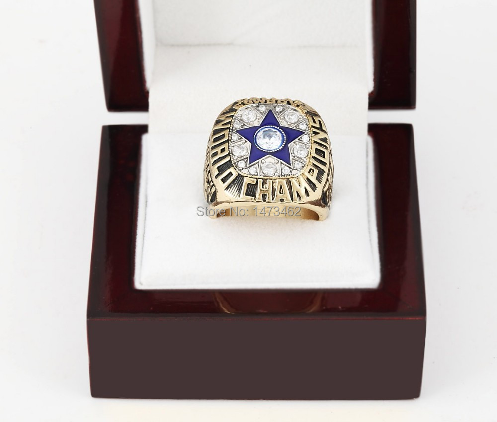 Free shipping Replica 1971 DALLAS COWBOYS SUPER BOWL VI Football World Championship Ring with Wooden box as fan gift(China (Mainland))