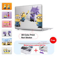 Purple Minions Despicable Me Laptop Computer Bag Case For Mac Apple Macbook Pro 15 For Macbook 12 Retina Silicone Keyboard Cover