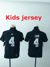 Kids youth Free fast shipping Best Quality Oakland Raiders 4 Derek Carr 11 Sebastian Janikowski 24 Charles Woodson 34 Jackson(China (Mainland))