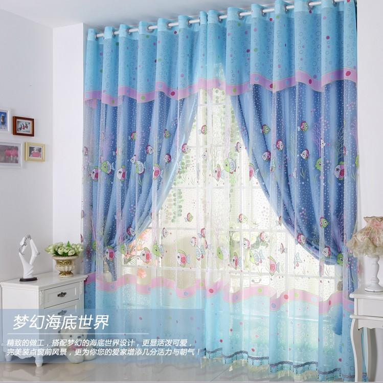 Шторы для голубой спальни