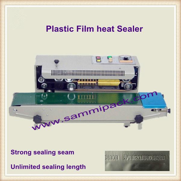 High Quality Continuous Band Sealer , film Sealing Machine,plastic bag heat sealer, Free shipping(China (Mainland))