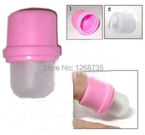Free Shipping 10Pcs Wearable Nail Acrylic Soaker Tools Kits Polish Remover Gel Removal Cap Tip Set Tool Pink UV Gel Nail Cleaner(China (Mainland))