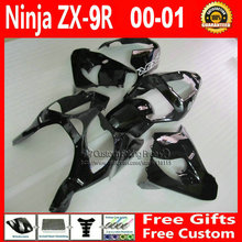 Motorcycle fairings Kawasaki Customize free ZX 9R 2000 2001 ZX9R 00 01 Ninja customize glossy black fairing+7Gifts - Welcome Shopping's store
