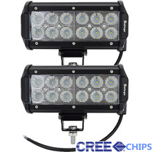2PCS 7 inch 36W Cree Chips Led work light bar 12V offroad light bar for truck 24V off road 4X4 ATV Car fog spot flood lamp(China (Mainland))