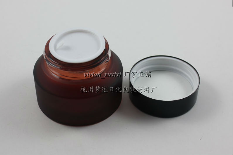 50pieces/lot High quality 50g rose red glass cream jar,empty amber glass cosmetic jar,frost 50g glass jar or cream container(China (Mainland))