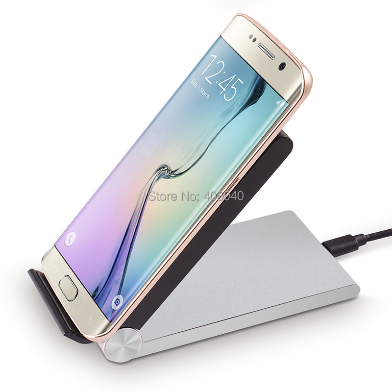 2015 New Qi Wireless Charger Charging Stand Desktop Dock Station for iPhone 6 Samsung Galaxy S6 Edge S5 Note 4 Moto Nexus 6 5 4(China (Mainland))