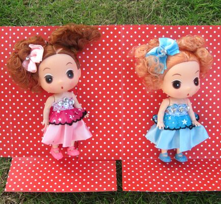Aliexpress new 12CM 4 colors boxed bow confused girl dolls (summer) wholesale lovely lori soft toys children's doll(China (Mainland))