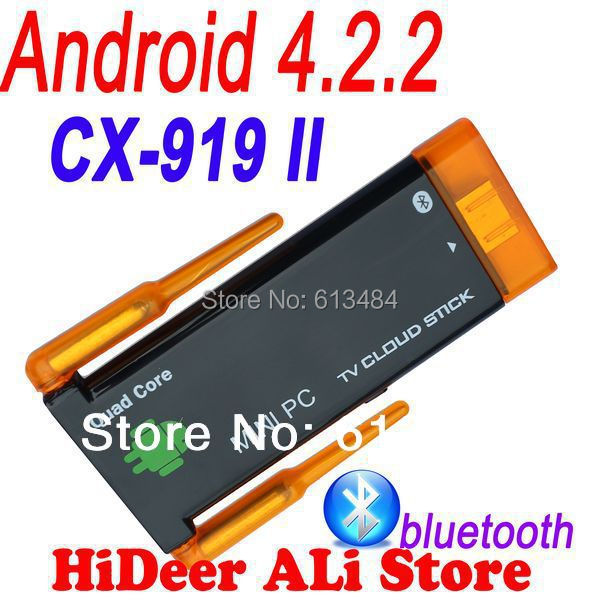 Quad core Rk3188 CX-919II CX 919 II mini pc Dual wifi antenna android 4.2.2 bluetooth built google tv stick CX-919 - HiDeer Tech Co., Ltd Store store