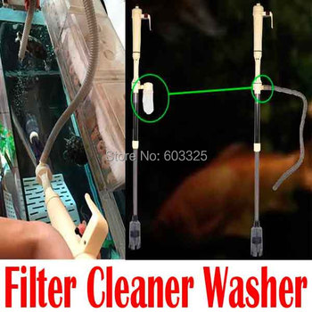 Aquarium Cleaner with Battery Syphon,Auto Vacuum Fish Tank Gravel Water Filter Washer,Free shipping