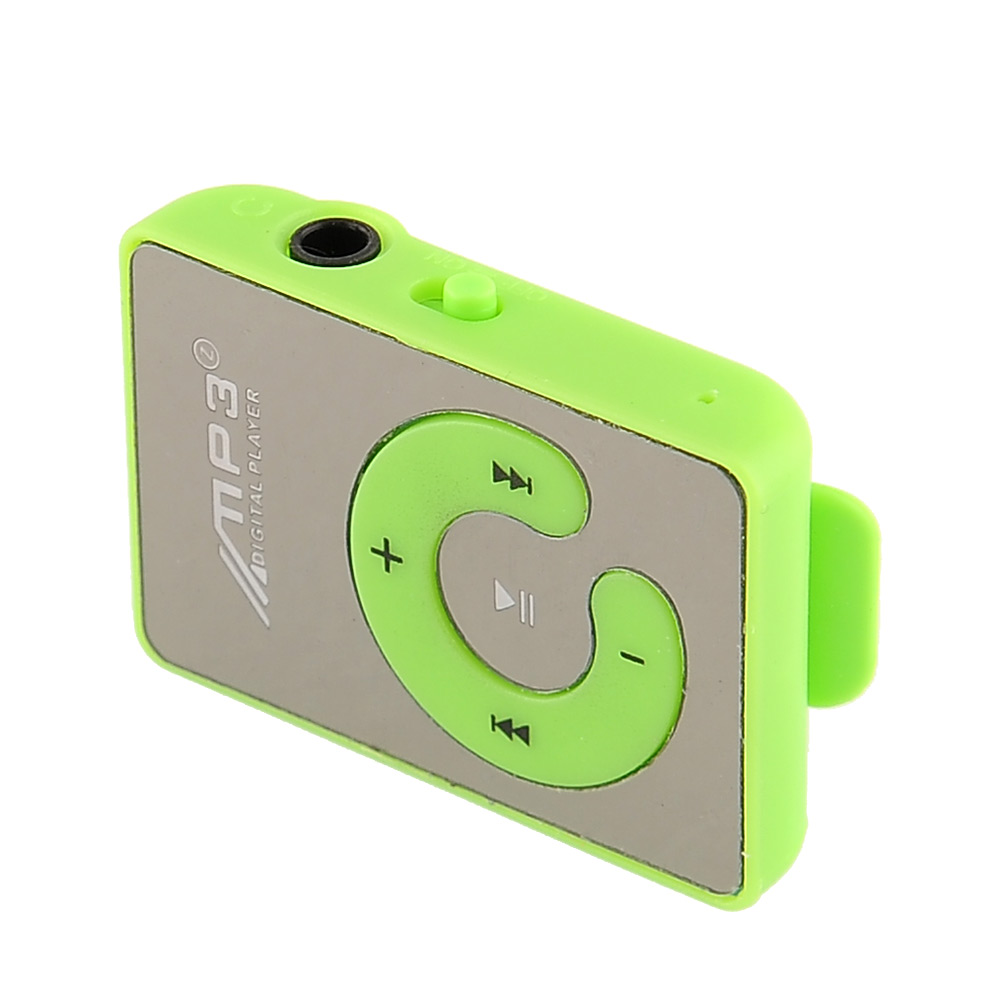 USB Mini Mirror Clip Mp3 Sport Music Player With TF Card Slot Suppot Up To 8GB
