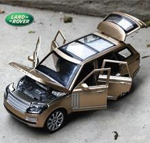 1:24 Free Shipping RANGE ROVER Alloy Diecast Car Model Pull Back Toy Car model Electronic Car with light&sound Kids Toys Gift(China (Mainland))