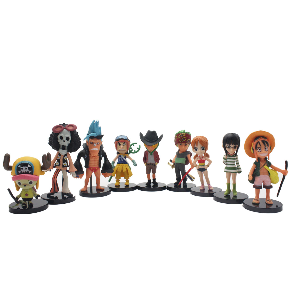 The Movie 8CM 9pcs/set One Piece New World Anime Figuarts SPECIAL MH POP Luffy Figuarts luffy zoro nami Action Figure Limit(China (Mainland))