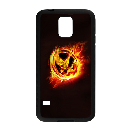 The hunger games fire logo custom samsung galaxy s5 cell for Diy custom phone case