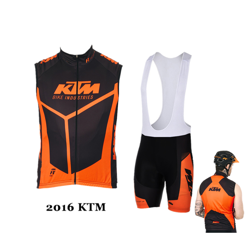 Cycling jersey KTM 2016 sleeveless ropa ciclismo hombre vest cycling clothing summer style maillot ciclismo mtb bike sport wear(China (Mainland))