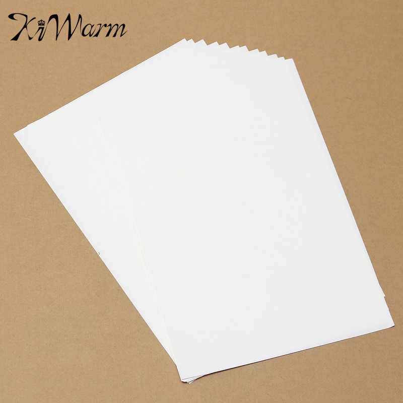 KiWarm 10Pcs A4 Iron On Inkjet Print Heat Transfer Paper For Light Fabric Tshirts White Light Colored Fabrics Cloth Textil(China (Mainland))