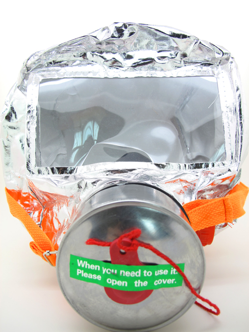 Fire escape mask,fire escape hood with filter cartridge and pretty packing box used for fire fighting