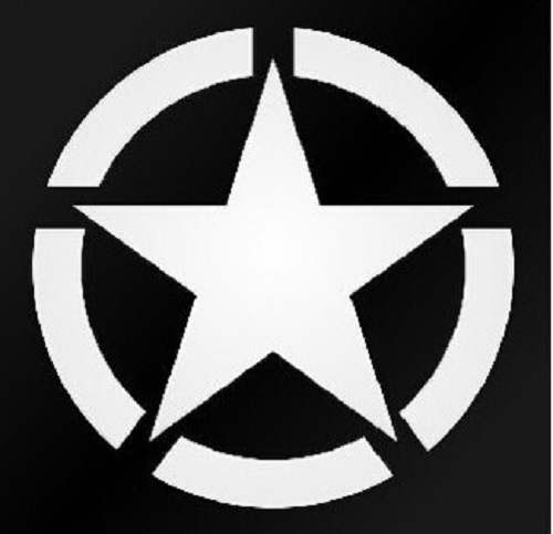 The US Army Star Reflective Car Sticker Whole Body Decal for JEEP Toyota Ford Chevrolet Volkswagen