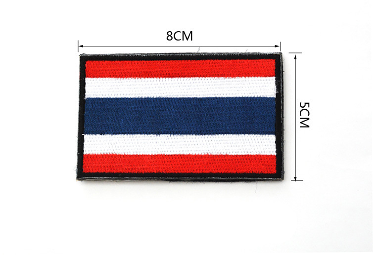Free shipping Thailand National Flag Tactical armbands Army Embroidery patches Patch Football Team badge 8x5cm(China (Mainland))