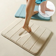 Simple Design Memory Foam Bath Mat Soft Warm And Strong Anti-slip Mat In The Bathroom Bedroom Stripes Mat Tapis De Bain 40*60cm(China (Mainland))