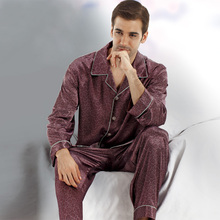 Men's Pajamas Wholesale High Quality Pijama Men's Satin Sleepwear Imitation Silk Pajamas for Men Summer Autumn(China (Mainland))