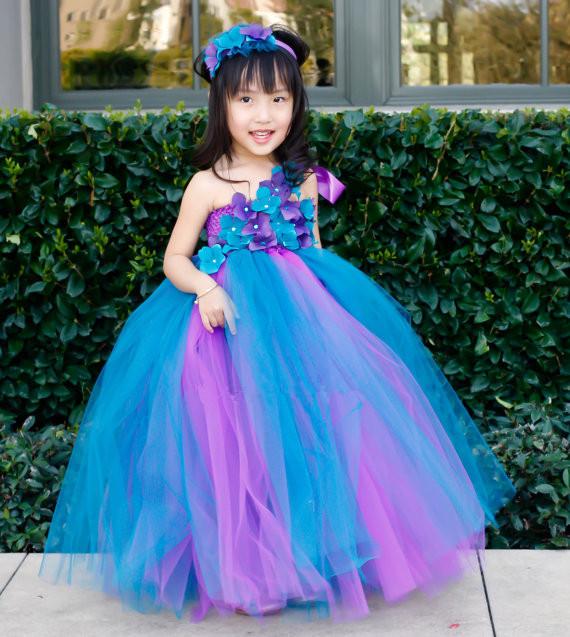 Princess dress wedding flower girl mesh ball gown dress christmas