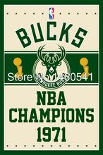 Milwaukee Bucks Weltmeister Flag 3ft x 5ft Polyester NBA Banner Fliegen No.4 Größe 4 144*96 cm Kundenspezifische Flagge(China (Mainland))