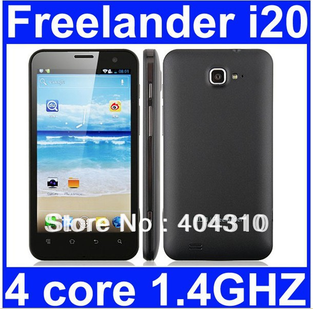 SG post Free shipping Freelander i20 quad core phone13.0MP camera 1280*720 multi-touch screen GPS WIFI 4.0inch MTK6577 1gb+8gb(China (Mainland))