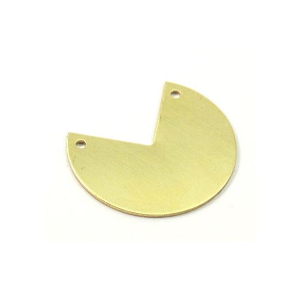 30x25x0.80 mm Raw Brass PacMan Metal Jewelry DIY Disc Flat Stamping Blank Pendant 2 Holes<br><br>Aliexpress
