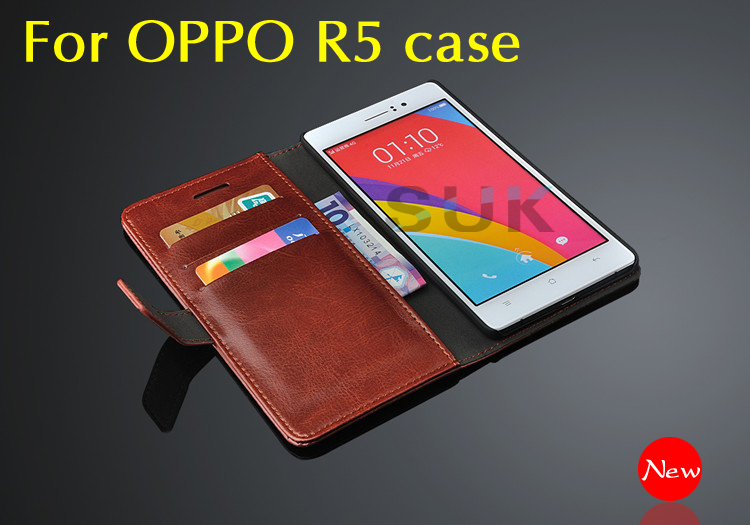 New OPPO R5 case High quality flip wallets mobile phone leather cover for oppo R 5 R8107 cell phone case Wholesale and retail(China (Mainland))