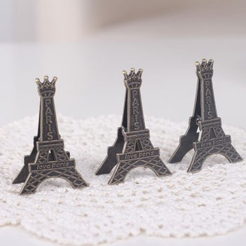 12pcs/lot Effiel Tower Paris Metal Memo Paper Clips for Message Decoration Photo Office Supplies Fashion Cut Gift Free shipping(China (Mainland))