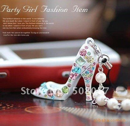 New Fashion High Heel Shoe Mobile Phone Chain,cell phone strap(10pcs/lot)